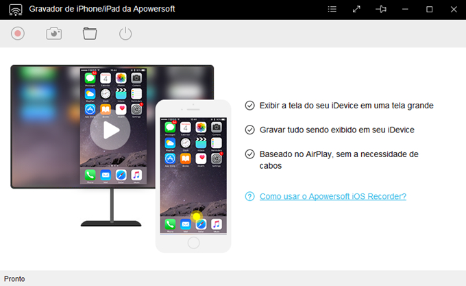 Gravador de iPhone/iPad da Apowersoft